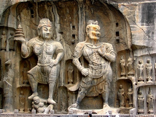 Buddhist Sculptures, Longmen Caves