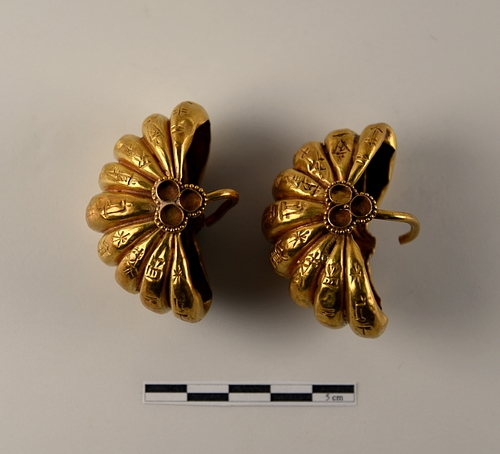 Side View, Gold Earrings, Ur III
