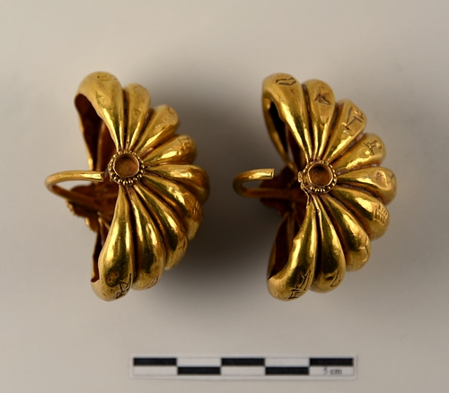 A Pair of Gold Earrings from Ur III