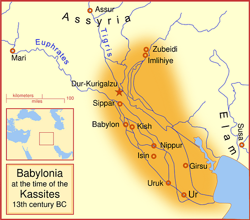 Babylon at the time of the Kassites (by MapMaster, CC BY-SA)