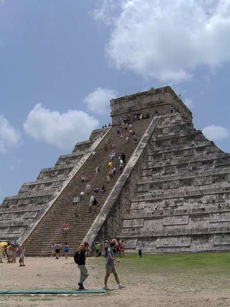 The Temple of Kukulcan (El Castillo) at Chichen Itza