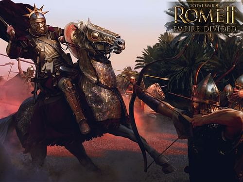 Emperor Aurelian & Sasanid Archers (by The Creative Assembly)