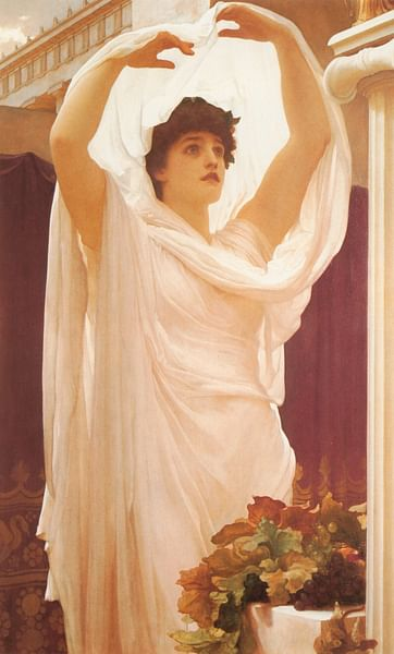 Priestess of Vesta (by Frederic Leighton)