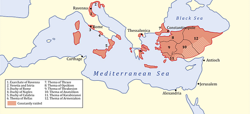 Byzantine Empire, 717 CE