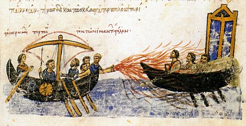 Greek Fire (by Unknown Artist, Public Domain)
