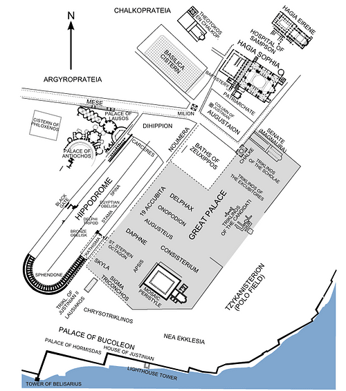 Plan of the Hippodrome of Constantinople