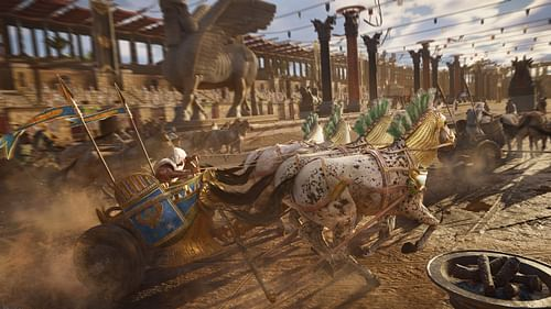 Ancient Chariot Race (by Ubisoft Entertainment SA, Copyright, fair use)