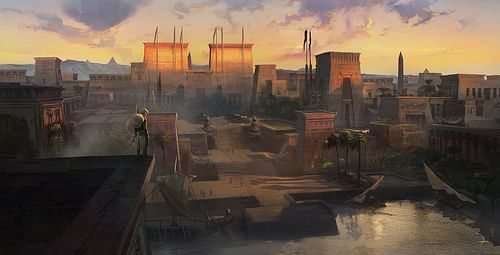 Egyptian Memphis Reconstruction (by Ubisoft Entertainment SA, Copyright, fair use)