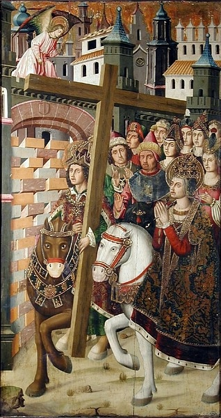 Heraclius Returning the True Cross to Jerusalem (by Miguel Ximenez, Public Domain)