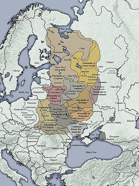 11th century CE Kievan Rus Territories