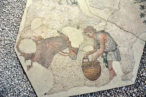 Man Feeding Mule, Byzantine Mosaic