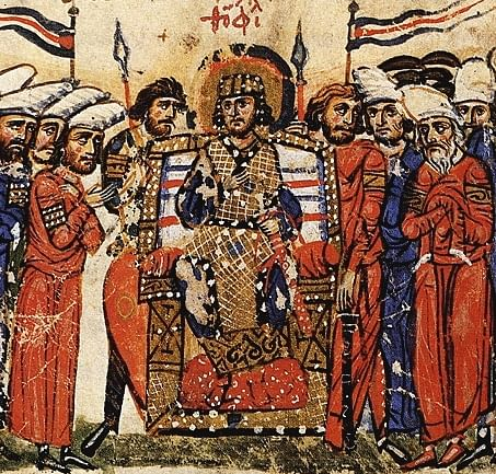 Coronation of Theophilos (by Unknown Artist, Public Domain)