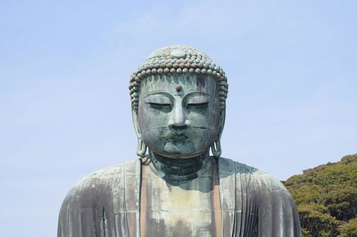 The Close-up of the Great Buddha of Kamakura (by James Blake Wiener)