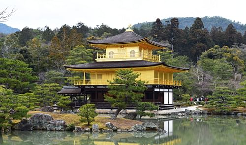 Kinkakuji Temple in Kyoto, Japan (by James Blake Wiener, CC BY-NC-SA)