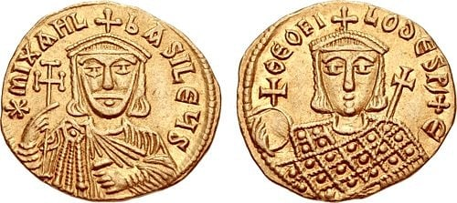 Michael II & Theophilos (by Classical Numismatic Group, Inc., CC BY-SA)