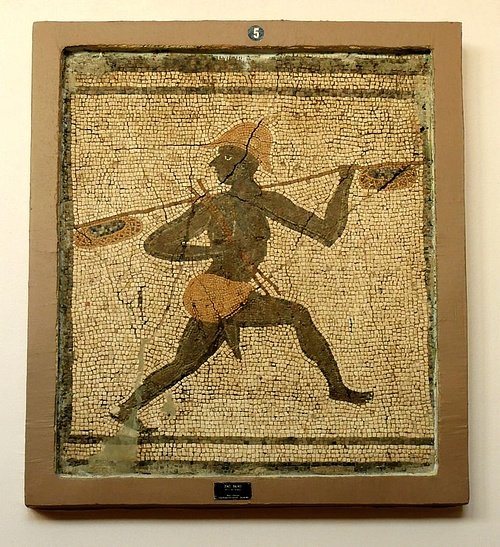 Roman Mosaic of an Aethiopian Fisherman