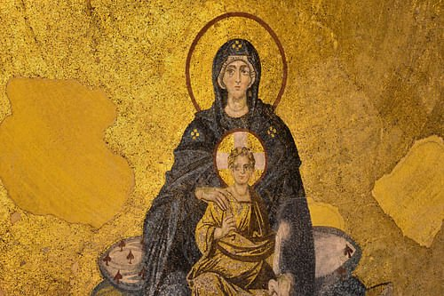 The Virgin and Child Mosaic, Hagia Sophia (by Hagia Sophia Research Team)