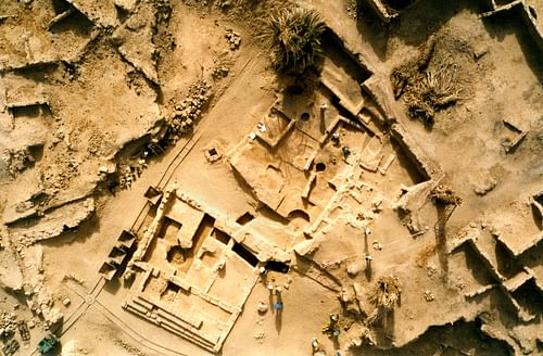 Aerial View of the Ruins at Germa (Garama)