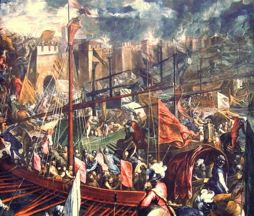 The Sack of Constantinople in 1204 CE