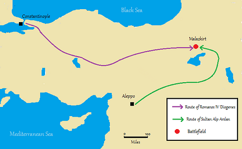 Location Map of the Battle of Manzikert, 1071 CE