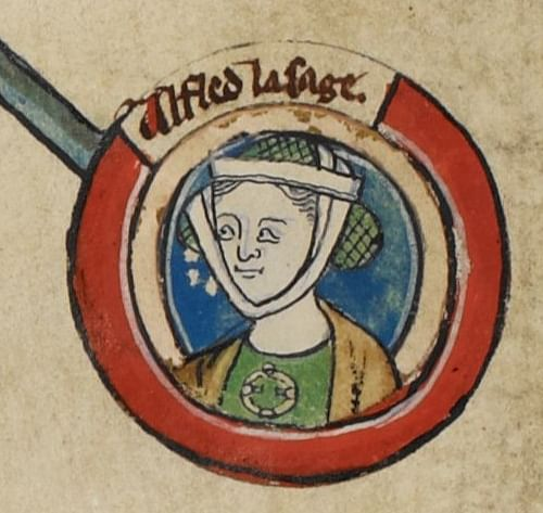 Miniature of Aethelflaed (by Unknown, Public Domain)