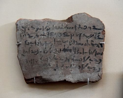 Demotic Ostracon Recording Payment of Necropolis Tax