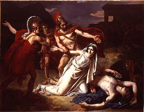Antigone with Polynices' Body (by VladoubidoOo, CC BY-SA)