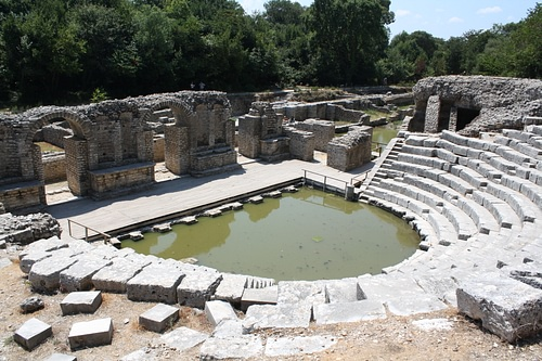Stage, Theatre of Butrint (by Mark Cartwright)