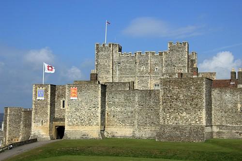 Pared interior y Donjon, Castillo de Dover