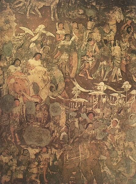 Elefantes de guerra do período de Gupta / Vakataka