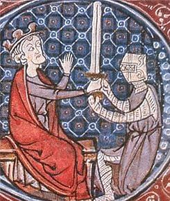 King David I Knighting a Squire