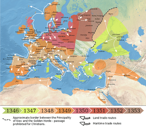 Spread of the Black Death