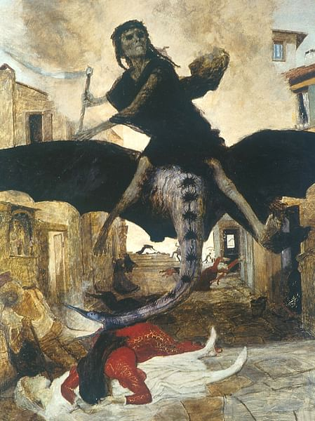 The Plague by Arnold Bocklin (by Arnold Böcklin)