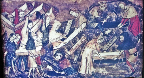 Tournai Citizens Burying the Dead during the Black Death