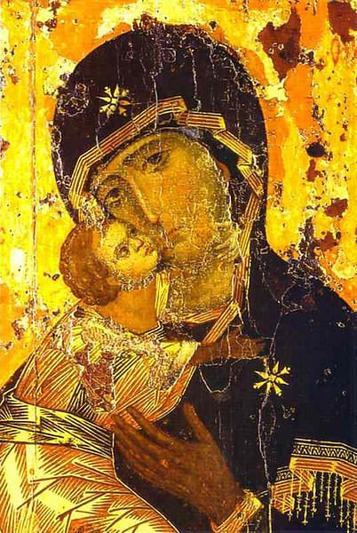 The Vladimir Icon (by Unknown Artist)