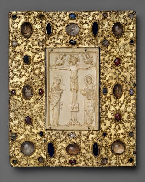 Byzantine Book Cover with Icon