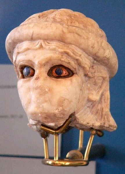 Marble Head, Iraq (by Mary Harrsch (Photographed at the the Univ. of Pennsylvania Museum of Archaeology and Anthropology), CC BY-NC-SA)