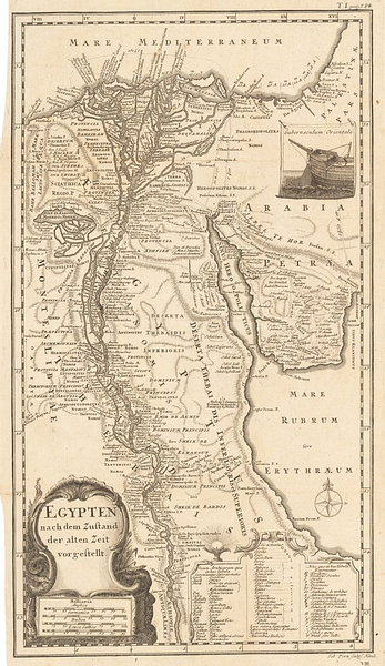 Map of Ancient Egypt, 1746 CE