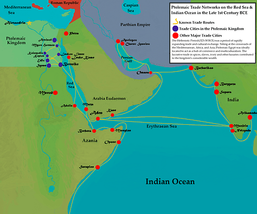 Ptolemaic Trade Networks in the Late 1st Century BCE