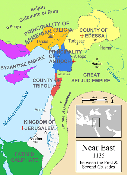The Near East in 1135 CE