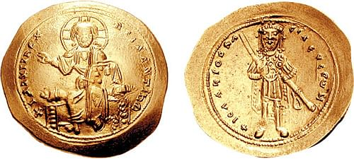 Byzantine Histamenon of Isaac I (by Classical Numismatic Group)