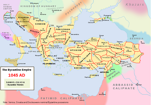 The Byzantine Empire c. 1045 CE