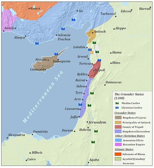 Crusader States - Ancient History Encyclopedia on jerusalem during crusades map, first templar map, richard knight s treasure map, saladin crusades map, acre crusades map,