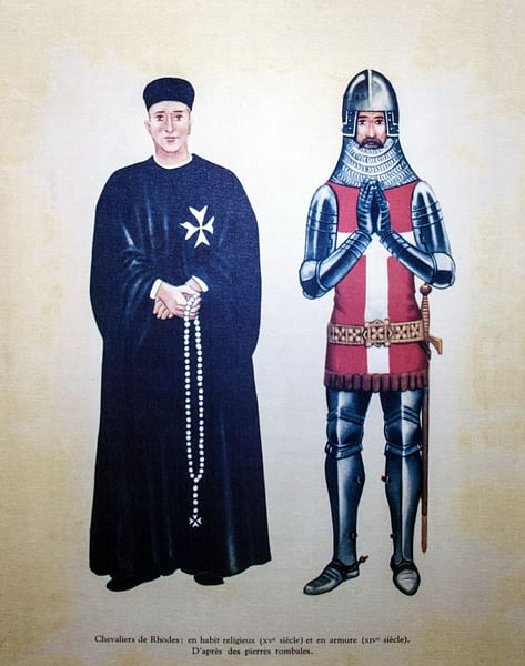 Knights Hospitaller (by Unknown Artist, Public Domain)
