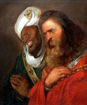 Saladin and Guy of Lusignan