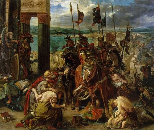 The Entry of the Crusaders into Constantinople (by Eugene Delacroix)