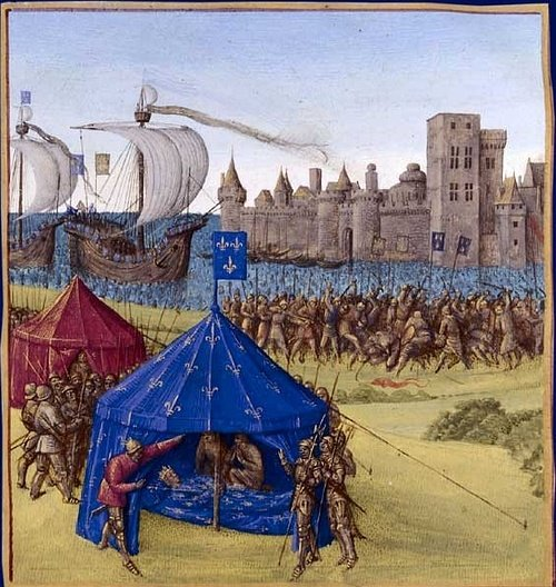 Death of Louis IX at Tunis, 1270 CE (by Jean Fouquet)