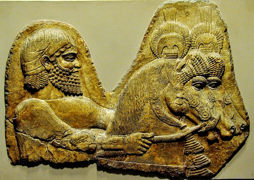 A Groom and Horses from Western Assyria
