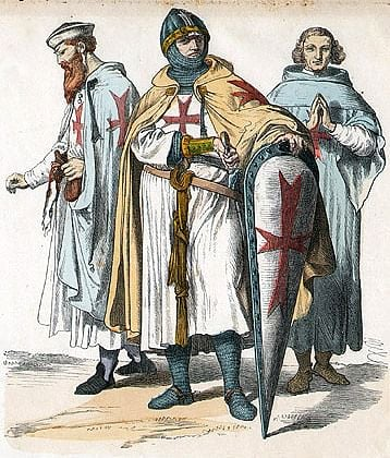 Knights Templar (by Unknown Artist, Public Domain)