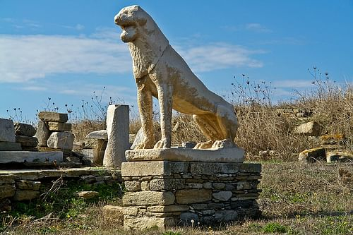 Delos Lion Sculpture (by SquinchPix.com)